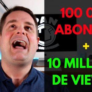 100 000 abonnés!  10 millions de visionnements!  MERCI !!!