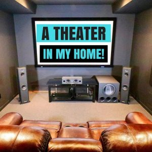 A MOVIE THEATER IN MY HOME !!! (MAN CAVE TOUR & HOME THEATER SETUP !!)