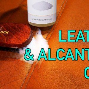 ULTIMATE LEATHER AND ALCANTARA CARE TUTORIAL !!  How to clean and protect leather and alcantara!
