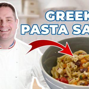 AMAZING & HEALTHY Greek Pasta Salad in Under 10 MIN !!