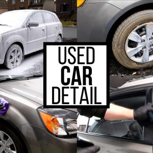CLEANING AND DETAILING A NEGLECTED 10 YEAR OLD CAR !!!