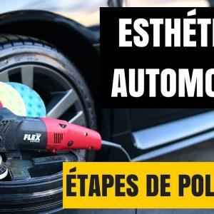 ÉTAPES DE POLISSAGE DE LA PEINTURE DE VOITURE (Compound et polish)