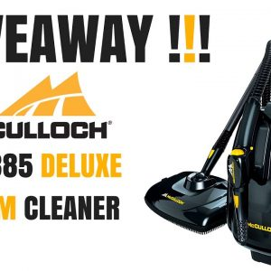 GIVEAWAY!!!  McCulloch MC1385 Deluxe Steam Cleaner!