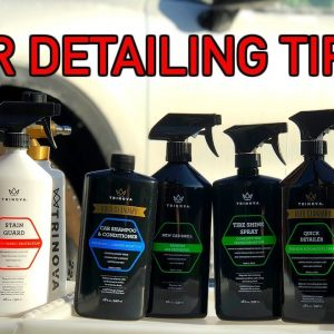 HOW TO ADD FINISHING TOUCHES AFTER A CAR WASH + GIVEAWAY !!