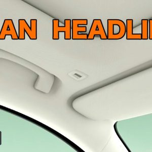 HOW TO CLEAN A CAR'S HEADLINER !!