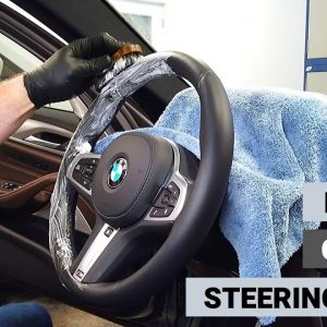 HOW TO CLEAN A LEATHER STEERING WHEEL !!