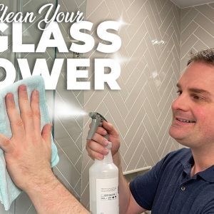 HOW TO KEEP GLASS SHOWERS CLEAN !! (QUICK & EASY)