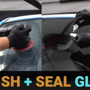 HOW TO POLISH AND CERAMIC COAT CAR GLASS !!