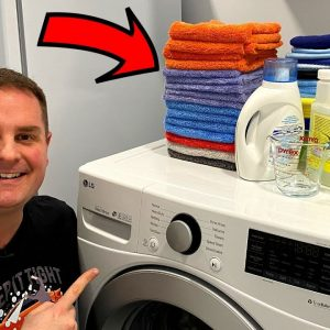 HOW TO WASH MICROFIBER TOWELS PROPERLY !! EASY !!