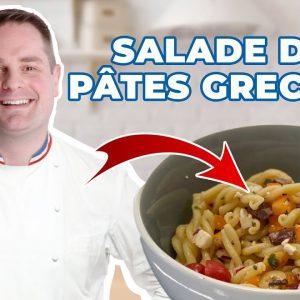 INCROYABLE salade de pâtes grecque santé en moins de 10 min!