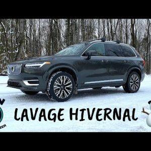 Lavage intérieur et extérieur complet hivernal : Volvo XC90 !!