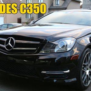 MERCEDES-BENZ C350: FULL DETAIL OF A BLACK CAR
