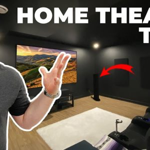 NEW HOME THEATER TOUR !!  4K DOLBY ATMOS SETUP!