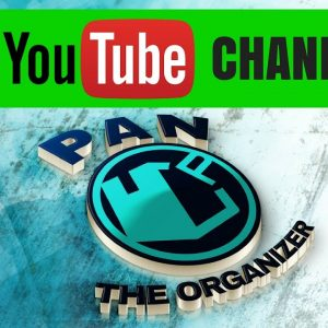 NEW YOUTUBE CHANNEL: Pan The Organizer!!!