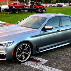 Pan aux courses d'accélération avec sa BMW M550i 2018 !!
