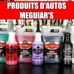Produits Meguiar's pour Professionnels (Esthétique de Voiture)