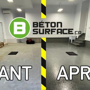 Revêtement de plancher de garage par BÉTON SURFACE !!