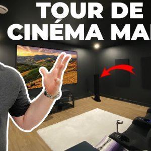 Visite de mon nouveau cinéma maison!  4K DOLBY ATMOS !