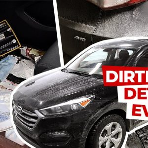 Deep Cleaning a DIRTY NASTY Car! | Insane Transformation!