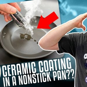 What happens when we apply a CERAMIC COATING on a nonstick frying pan?