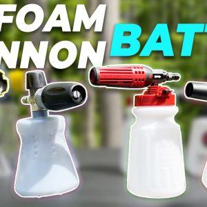 FOAM CANNON BATTLE !! New models! What is the best foam cannon?