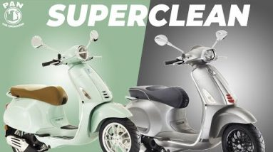 HOW TO WASH AND PROTECT A SCOOTER or MOTORCYCLE AT HOME! My two new 2021 Vespa Primaveras!